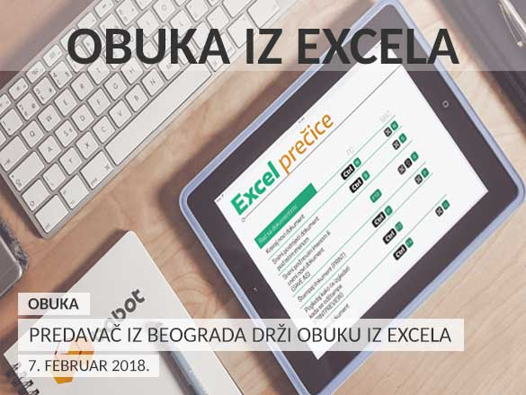 Predavač iz Beograda drži obuku iz Excela